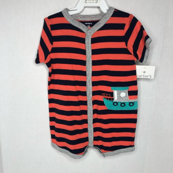 Carter's Other - Carter's infant one piece snap up romper size 12m